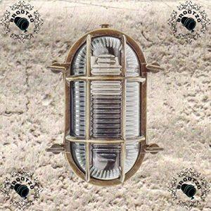 Gloria- Applique d'extérieur hublot , Lampe ovale en laiton Applique murale marine nautique Lumière vintage industrielle , Lampe de bateau de la marque BrootZo image 0 produit