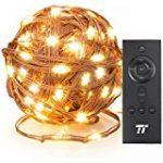 Guirlande Cuivre Lumineuse Noël lumière LED Fée cordes Lumières Decorative, URAQT 20M 200 LED Lights étoilées pour Outdoor, jardin, mariage, fête, accueil avec télécommande de la marque URAQT image 11 produit