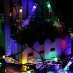 Guirlande lumineuse solaire Extérieur cfzc, Belle forme goutte d'eau 20ft 30 LED éclairage étanche pour les arbres de Noël, jardin, patio, décoration, mariage, fête, (Multicolore) bleu de la marque CFZC image 3 produit
