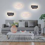 K-Bright Applique murale,12W lampe murale,Eclairage mural mural étanche IP20,AC 85-265V Design moderne chambre élégante, salon, applique murale couloir,10,2x4,9x2,2 pouces,3000K blanc chaud, blanc de la marque K-Bright image 6 produit