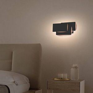 K-Bright Applique Murale à l'intérieur,12W éclairage mural de chambre,lampe de conception moderne en Aluminium,10,2x4,9x2,2,Design moderne élégant applique LED 3000K blanc chaud,Noir de la marque K-Bright image 0 produit