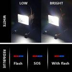 Lampe Chantier 15W Super Lumineuse, Projecteur LED Torche Portable et Rechargeable pour Ouvrier, Bricoleur, Tourneur et Travailleur (Noir) de la marque Grandbeing image 4 produit