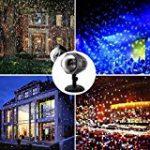 Lampe Projecteur d'Ambiance Eclairage Lumière 2 Couleurs Réglable Etoiles de Ciel Motifs Utilisation l'Intérieur ou l'Extérieur avec Télécommande de la marque AZX image 6 produit
