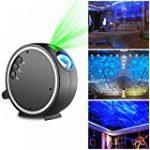 Lampe Projecteur d'Ambiance Eclairage Lumière 2 Couleurs Réglable Etoiles de Ciel Motifs Utilisation l'Intérieur ou l'Extérieur avec Télécommande de la marque AZX image 19 produit