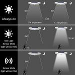 Lampe Solaire Jardin 34 LED Lumière Extérieur Détecteur de Mouvement avec 4 en 1 Eclairage Extérieur Résistant aux Intempéries Luminaire Mural pour Jardin Escalier Extérieur Patio (Blanc(2 pack)) de la marque LBELL image 6 produit