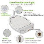 Lampe Solaire Jardin 34 LED Lumière Extérieur Détecteur de Mouvement avec 4 en 1 Eclairage Extérieur Résistant aux Intempéries Luminaire Mural pour Jardin Escalier Extérieur Patio (Blanc(2 pack)) de la marque LBELL image 4 produit