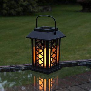 Lanterne Solaire avec Bougie LED Effet Vacillant (Pile Rechargeable Incluse) 17,5cm Waterproof de la marque Festive Lights image 0 produit