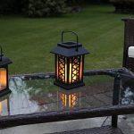 Lanterne Solaire avec Bougie LED Effet Vacillant (Pile Rechargeable Incluse) 17,5cm Waterproof de la marque Festive Lights image 2 produit