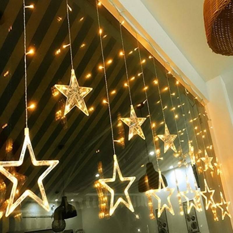 decoration lumineuse de noel pour fenetre great bloomwin rideau lumineux led flocon de neige m. Black Bedroom Furniture Sets. Home Design Ideas
