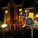 LED Projecteur Lumière II Extérieur/interieur, Dreamix 3W x 4 Mouvement Etanche IP65 étoile éclairage Lampe pour Décoration de Noël Vacances Maison Jardin Wall Barre Birthday de la marque Dreamix image 6 produit