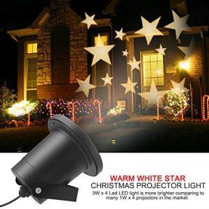LED Projecteur Lumière II Extérieur/interieur, Dreamix 3W x 4 Mouvement Etanche IP65 étoile éclairage Lampe pour Décoration de Noël Vacances Maison Jardin Wall Barre Birthday de la marque Dreamix image 0 produit