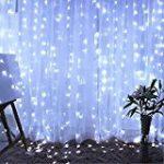 LED Rideau d'éclairage Étoiles Lumières de Rideaux Étoiles Avec 138 LEDs AC 220V Noël Guirlande Lumineuse Rideau lumineux Décoration de Noël Lampe Décorative [Classe énergétique A] Blanc chaud de la marque xinban image 7 produit