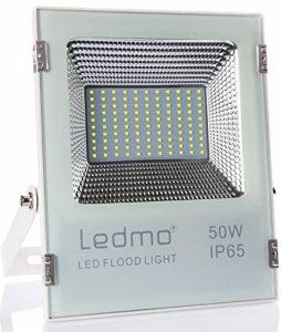 LEDMO® 50W Projecteur led exterieur,étanche IP65 pour extérieur Projecteur LED, lumière du jour blanc, 6000K, 5000lm, 250W Equivalent halogène,Lumières de sécurité,Lumière d'inondation de la marque LEDMO image 0 produit