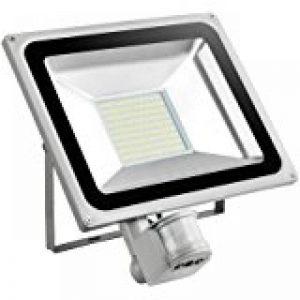 Leetop Projecteur LED SMD 50W IP65 Projecteur à Ampoule Phare Blanc Froid spot mural extérieur stahler Ampoule avec détecteur de mouvement PIR 2pcs de la marque Leetop image 0 produit