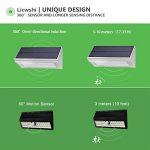 Licwshi 1100 lumens lampe solaire 48LED 4500mAh avec coque en alliage d'aluminum, imperméable en plein air, radar-détection de mouvement, s'appliquant au porche, jardin, cour, garage - blanche chaude (2018 nouvelle version-1 Pack) de la marque Licwshi image 2 produit