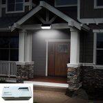 Licwshi 1100 lumens lampe solaire 48LED 4500mAh avec coque en alliage d'aluminum, imperméable en plein air, radar-détection de mouvement, s'appliquant au porche, jardin, cour, garage - blanche chaude (2018 nouvelle version-1 Pack) de la marque Licwshi image 4 produit