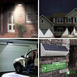 Licwshi 1100 lumens lampe solaire 48LED 4500mAh avec coque en alliage d'aluminum, imperméable en plein air, radar-détection de mouvement, s'appliquant au porche, jardin, cour, garage - blanche chaude (2018 nouvelle version-1 Pack) de la marque Licwshi image 5 produit