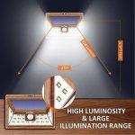 Litom Lampe Solaire Extérieur 24 LED, Applique Solaire Puissante avec Détecteur de Mouvement, Large Gamme d'Éclairage Lumineux avec 3 LED sur les Deux Côtés, Spot Solaire de Sécurité pour Jardin, Escalier, Terrasse de la marque Litom image 2 produit