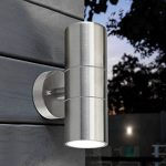 Long Life Lamp Company Applique murale extérieure en inox à double éclairage LED IP65 GU10 8 W de la marque Long Life Lamp Company image 3 produit