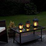 Lot 3 Lanternes Solaires avec Bougie à LED Éclairage Vacillant Ambre Ultra Réaliste (Piles Rechargeables Incluses) Waterproof de la marque Festive Lights image 1 produit
