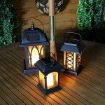 Lot 3 Lanternes Solaires avec Bougie à LED Éclairage Vacillant Ambre Ultra Réaliste (Piles Rechargeables Incluses) Waterproof de la marque Festive Lights image 2 produit