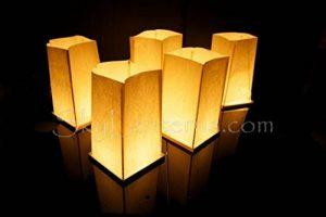 Lot de 10 Lanternes d'Eau Flottantes et 10 Bougies de la marque Sky Lanterns image 0 produit
