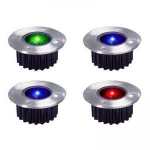 Lot de 4 sans fil Rechargeable àénergie solaire Couleurs changeantes LED lampes de jardin en acier inoxydable de la marque TOOLTIME image 0 produit