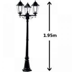 Lucide ARUBA - Lanterne / Lampadaire Exterieur Extérieur - IP44 - Noir de la marque Lucide image 0 produit