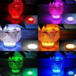 Lumière submersible de LED 2 pièces avec la télécommande, lampe multi de couleur imperméable d'Alilimall pour les piscines, bains chauds, vase de base, floral, aquarium, étang, mariage, partie, éclairage de la marque Alilimall image 3 produit