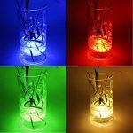 Lumière submersible de LED 2 pièces avec la télécommande, lampe multi de couleur imperméable d'Alilimall pour les piscines, bains chauds, vase de base, floral, aquarium, étang, mariage, partie, éclairage de la marque Alilimall image 5 produit