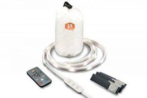 Luminoodle Couleur–1,5m RGB lumières de corde–15Couleur LED avec variateur d'intensité à cordes, télécommande–450lm Lanterne de camping, éclairage de sécurité ou de randonnée... de la marque Power Practical image 0 produit