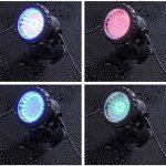 Lychee étanches à distance amphibies 36 LED Set de 4 Change-couleur Submersible lumières sous-marines pour étang de jardin Aquarium Courtyard Piscine Fountain Fish Tank de la marque lychee image 3 produit