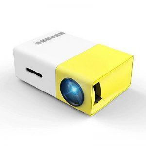 Meer YG300 Portable Mini Pico Projecteur LCD Couleur pour Cadeau Enfants, Film Vidéo TV, jeu de fête, divertissement extérieur avec HDMI/USB/AV Interfaces et Télécommande de la marque meer image 0 produit