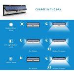 Mpow 54 LED Lampe solaire extérieure étanche IP65 sans fil 800 lumens Luminaire exterieur/ Spot exterieur 120° Grand Angle reglable avec détecteur de mouvement et Paneau Solaire pour Pati, jardin, cour, chemin,escaliers, cloture de la marque Mpow image 2 produit