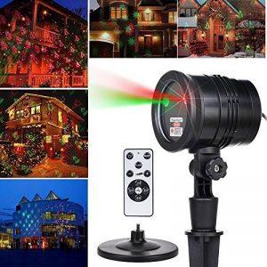 Noël Projecteur Ambiance LED Eclairage Etoilé étanche IP65 + Télécommande, éclairage de jardin Décoration murale extérieure/ intérieure - Rouge et Vert de la marque Salcar image 0 produit