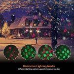 Noël Projecteur Ambiance LED Eclairage Etoilé étanche IP65 + Télécommande, éclairage de jardin Décoration murale extérieure/ intérieure - Rouge et Vert de la marque Salcar image 2 produit