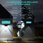 【Nouvelle Conception】Lampe Solaire Extérieur à Electrolyte Amélioré, LED Extérieur Solaire Etanche, 3 Modes Intelligents avec Détecteur de Mouvement et Panneau Solaire 270° Grand Angle Eclairage Extérieur / Luminaire Extérieur / Lampe de Sécurité pour Pat image 3 produit