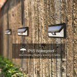 [Nouvelle Version] 24 LED Lampe Solaire Extétieur IP65 étanche sans fil Mpow Luminaire Exterieur 528 Lumens Détecteur de Mouvement avec Trois Modes Intelligents 270 ° Grand Angle/ Eclairage Exterieur / Lampe mural / Spot Exterieur Pour Jardin,Escalier Ext image 6 produit