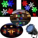Projecteur LED Noël Exterieur, CAMTOA IP65 Etanche, Télécommande, 10 Motifs de lentilles changeants, Multicolore lumière, Lamp d'Ambiance, Lamp Décorative Eclairage, Projecteur LED du Ciel Etoilé Dyna de la marque CAMTOA image 1 produit