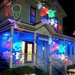 Projecteur LED Noël Exterieur, CAMTOA IP65 Etanche, Télécommande, 10 Motifs de lentilles changeants, Multicolore lumière, Lamp d'Ambiance, Lamp Décorative Eclairage, Projecteur LED du Ciel Etoilé Dyna de la marque CAMTOA image 3 produit