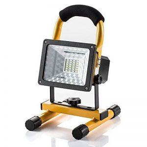 Projecteur Led Rechargeable Super Lumineuse 15W Floodlight, Torche Lampe 7 Heure Work Light Sans Fil Portable Pour Chantier Garage Bricolage Travaux de la marque GRDE image 0 produit