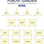 Purovi® Voile d'ombrage | Rectangulaire avec Protection anti-UV | En Polyester Imperméable à l'eau ou en Polyéthylène Haute Densité Perméable à l'air | 3 m x 4 m en PES de la marque Purovi image 6 produit
