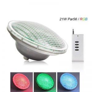 Roleadro 21W Par56 LED Submersibles Lampe de Piscine IP68 Imperméable RGB 12V Led Multicolore Projecteur Piscine avec Télécommande(57 Effets de Lumière) [Classe énergétique A+++] de la marque Roleadro image 0 produit