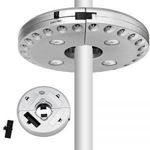 SOAIY® Lampe pour Parasol de 28 LEDs avec 3 Niveaux d'Éclairage Lampe Extérieure pour Parasol / Tente / Arbre / Camping / BBQ de la marque SOAIY image 0 produit