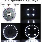 SOAIY® Lampe pour Parasol de 28 LEDs avec 3 Niveaux d'Éclairage Lampe Extérieure pour Parasol / Tente / Arbre / Camping / BBQ de la marque SOAIY image 2 produit