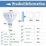 Spots LED Ampoules MR16-Culot GU5.3-5W Consommé-Equivalent 50W Ampoule Halogène Incandescente-Blanc Neutre-500 Lumens -Lot de 6 Par COOWOO de la marque COOWOO image 2 produit