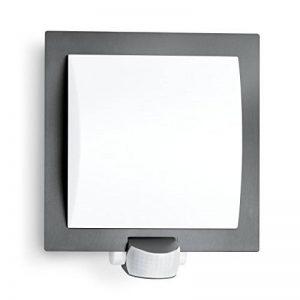 Steinel L 20Anthracite–Lampe extérieure applique murale pour l'extérieur avec détecteur de mouvement à 180°, orientable, max. 10m Portée, capteur crépusculaire, antichoc après IK07, culot E27, pour ampoule à 60W max. de la marque STEiNEL image 0 produit