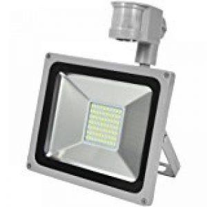 Tempo di Saldi® - Projecteur à LED 10W - Lumière blanche froide - Avec détecteur de mouvement crépusculaire - IP65 de la marque Tempo di Saldi® image 0 produit