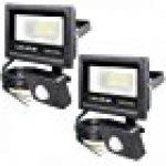 Tempo di Saldi® - Projecteur à LED 10W - Lumière blanche froide - Avec détecteur de mouvement crépusculaire - IP65 de la marque Tempo di Saldi® image 13 produit