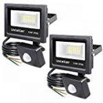 Tempo di Saldi® - Projecteur à LED 10W - Lumière blanche froide - Avec détecteur de mouvement crépusculaire - IP65 de la marque Tempo di Saldi® image 19 produit